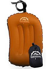 Gear Doctors Anti-Slip Ultralight Inflatable Camping Pillow -Ergonomic Design for Maximum Neck and Back Support - Compact and Comfortable Perfect for Camping Hiking