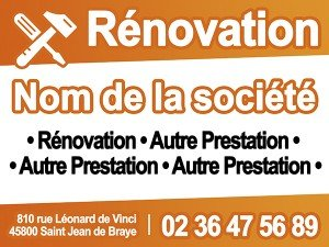 immo-panneaux.com Cartel de Obra Renovation - Cartel 60 x 80 ...