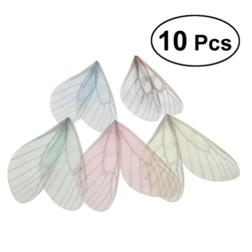 Beautiful Butterfly Charm - OULII 10pcs Beautiful Butterfly Wings Charms for DIY Jewelry Crafts Making Earring Necklace Hair Clip Decoration (Random Color)