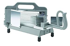 """Winco TTS-250S, Kattex Commercial Grade Tomato Slicer with 1/4"""" Replaceble Serrated Blade, Tomato Cutter, Stainless Steel"""