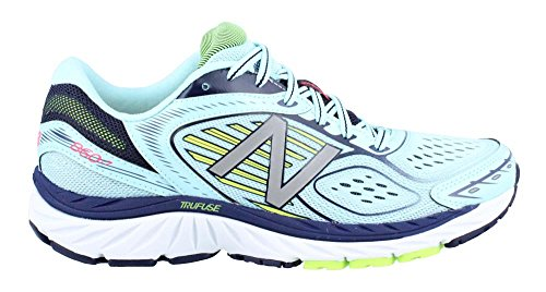 New Balance 860 v7 Womens TRUFUSE Cushioning Running Shoes - Blue/Lime D Width Ozone Blue/Lime Glo SOtlVHJU