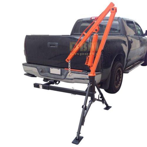 Receiver Hitch Crane - Hydraulic Hitch Mounted Truck Crane Hoist Lift 1000 LBs Capacity