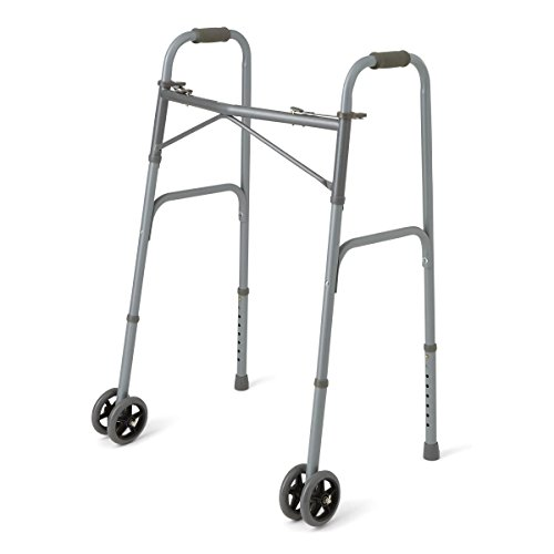 medline-mds86410xwwb-heavy-duty-600-lb-bariatric-extra-wide-folding-walker-with-5-wheels-comfort-foa