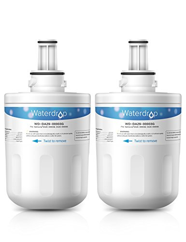 2 Pack Waterdrop DA29-00003G Replacement for Samsung DA29-00003G, DA29-00003B, DA29-00003A, HAFCU1 Refrigerator Water Filter