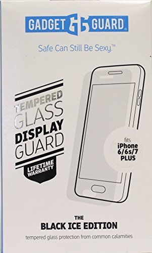 Gadget Guard The Black Ice Edition Tempered Glass Screen Protector for iPhone [6s Plus][7 Plus] [8 Plus] by Gadget Guard