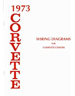 1973 corvette complete set of factory electrical wiring diagrams &  schematics guide - 10 pages