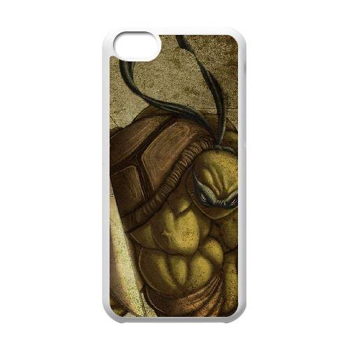 R4Y64 Leonardo de TMNT Mutant Ninja Turtles M0D6WH coque iPhone 5c cellulaire cas de téléphone couvercle coque blanche HX1WRB1IX