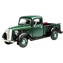 1937 Ford Pick Up Truck, Green With Black - Showcasts 73233 - 1/24 Scale Diecast Model Car