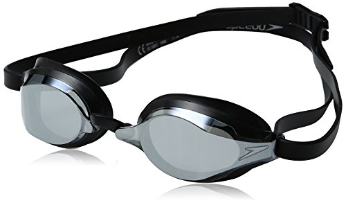 Goggles Black Classic - Speedo Speed Socket 2.0 Mirrored Swim Goggles, Black/Silver, One Size