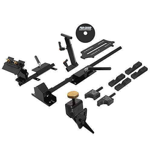 (Pro Grind Sharpening Jig System For Lathe Turning Tools, Chisels, Skewd, Gouges, Bowl Gouges, Spindle Gouges and More. Comes With Multi-Grind Jig for Gouges. Designed For Use With Bench Grinders)