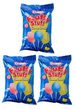 Fluffy Stuff Cotton Candy Bag: 24 Count - 2.5 oz (Pack of 3) by Charms (Image #2)