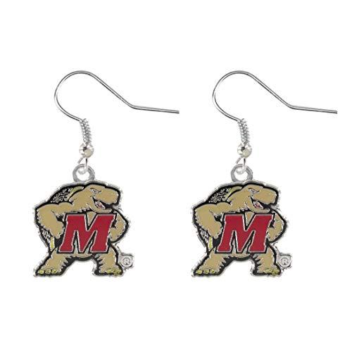 NCAA Maryland Terrapins Logo Dangler Earrings