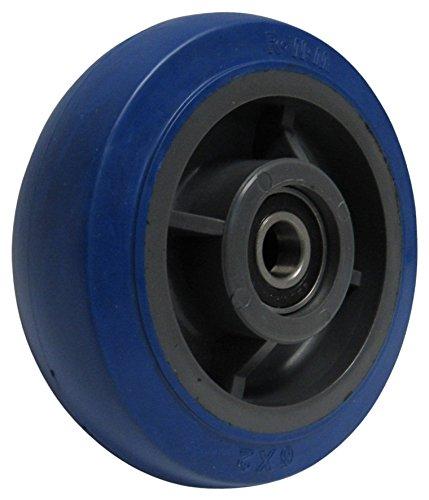 - RWM Casters Signature Premium Rubber Wheel, Precision Ball Bearing, 600 lbs Capacity, 6