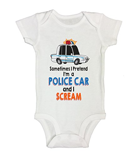 Onesie Police Scream Funny Shirts