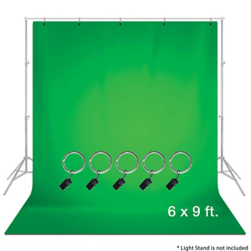 LimoStudio 6 x 9 ft. Green Muslin Backdrop with Ring