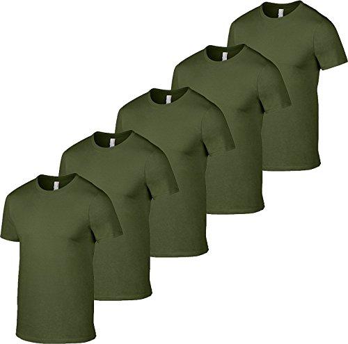 T shirt pour hommespaquet Gildan militaire 5vert Softstyle de sQCtrdh
