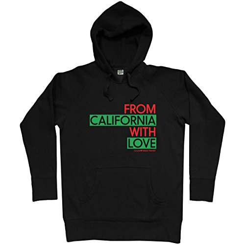 Smash Vintage Men's From California With Love Hoodie - Black, Large