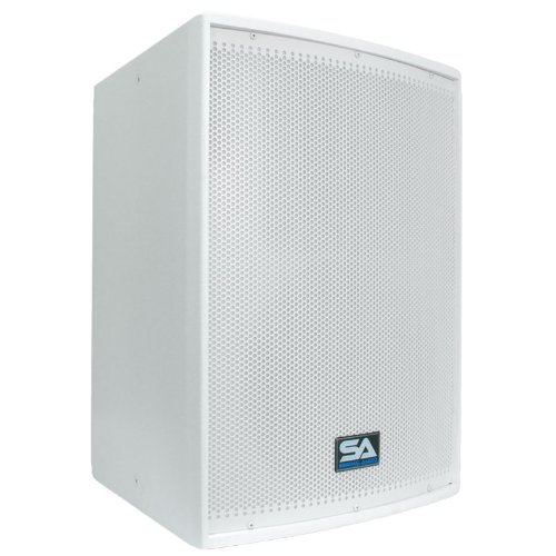 Seismic Audio - Arctic12Single 12-Inch PA Speaker or Floor Monitor - 300 Watts RMS, White