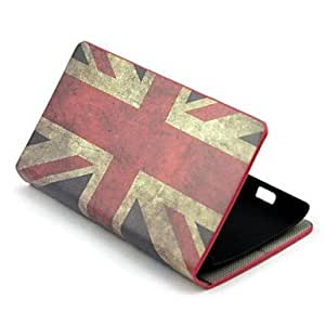 UK Flag Pattern PU Leather with Stand Full Body Firm Case Cover for Nokia Lumia 520