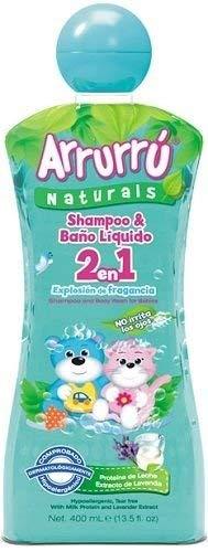 Arrurru Baby Shampoo & Baño Liquido 2 en 1 Explosion de Fragancia. 13.5 Fl oz.