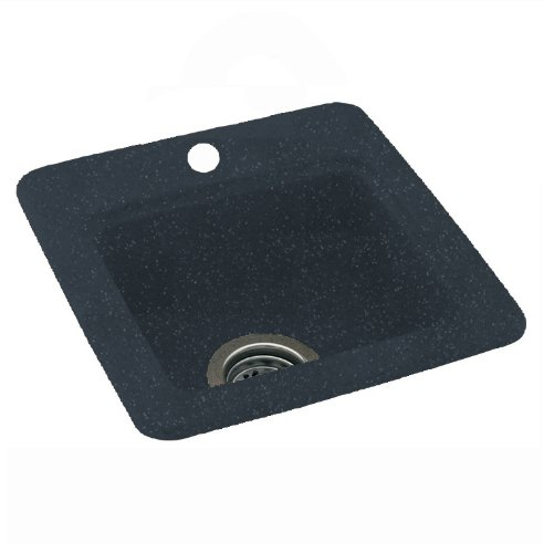 Swanstone Sink Accessories (Swanstone BS-1515-015 15-Inch by 15-Inch Small Entertainment Sink, Black Galaxy)