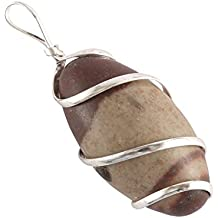 Aatm Reiki Energized wire wrapped Shiva Lingam (powerful stone to stimulate health & well being)