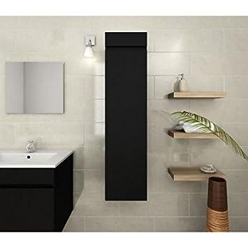 LUNA Colonne de salle de bain L 30 cm - Noir mat: Amazon.de: Baumarkt