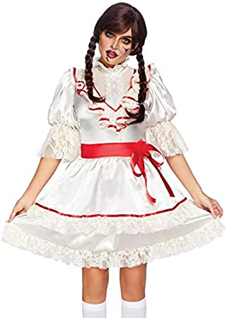 Disfraz de muñeca Espeluznante Estilo Annabelle para Mujer Medium ...