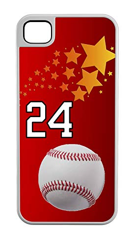 iPhone 8 Case Baseball Basket Catch Customizable Tough Case by TYD Designs in White Plastic and White Rubber with Team Number 24