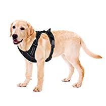 Rabbitgoo Dog Harness No Pull Pet Harness Adjustable Reflective Pet Vest Oxford Material Vest with High Visibility Reinforced Straps for Large Dogs Easy Control Harness for Outdoor Training Walking