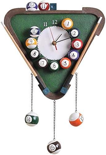 WYJW Reloj de Pared de Billar Pool Reloj Digital Moderno de Resina ...