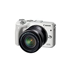 Canon Eos M3 With 18-55mm F3.5-5.6 Is Stm Lens (White) - International Version (No Warranty)