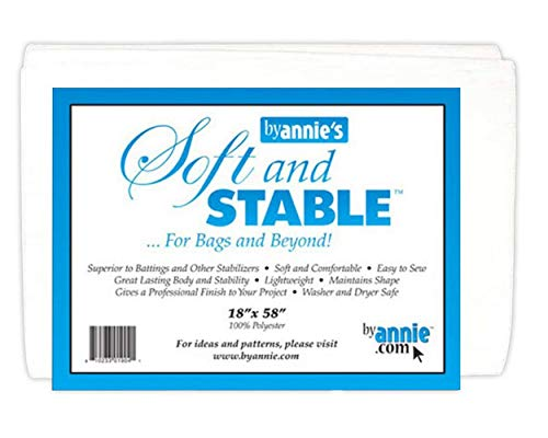 (Soft and Stable White 100% Polyester Stabilizer 18in x 58in)