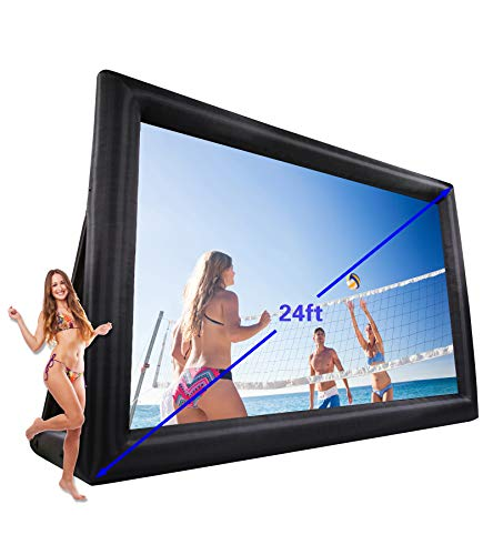 (TKLoop Inflatable Mega Movie Screen Theater Projector Screen for Outdoor Party or Mobile Cinema (20x13ft) )