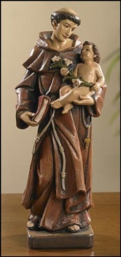 Saint Anthony Resin 8'' H - Christian Brands Catholic