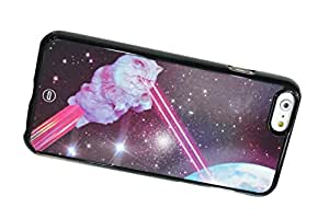 1888998365443 [Global Case] Crazy Cat Kitty Sunglasses Galaxy Stars Infinity Dream Nebula Constellation Planets Space Funny Dark Laser (BLACK CASE) Snap-on Cover Shell for BLACKBERRY (RIM) Q10