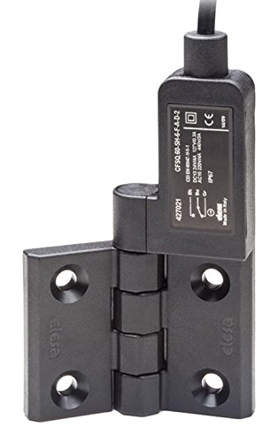 Elesa 427035  Hinges with Built-In Safety Switch, Black Matte Super-Technopolymer, AISI  303 Stainless Steel Rotating Pin, F-B-D: Rear Cable, 5 m Length, Microswitch On The Right