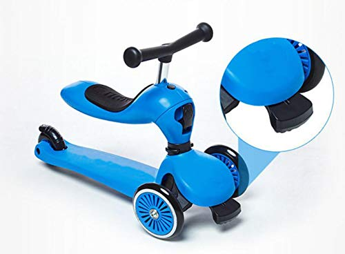 Children's scooter kick scooter children's children 4 wheel scooter, 2 in 1 super wide wheel kids scooter balance car / slide car, one button conversion adjustable height handle, scooter children boys by JBHURF (Image #1)