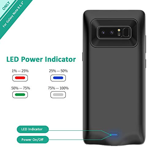 Galaxy Note 8 Battery Case, Stoon 5500mAh Portable Charger Case Rechargeable Extended Battery Pack Protective Backup Charging Case Cover for Samsung Galaxy Note 8(6.3Inch) (Black) by Stoon (Image #2)