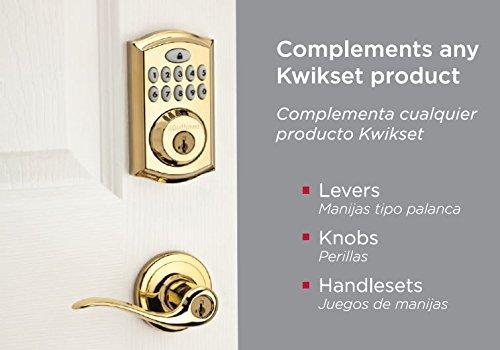 Kwikset 99130-001 SmartCode 913 UL Electronic Deadbolt featuring SmartKey in Lifetime Polished Brass by Kwikset (Image #2)