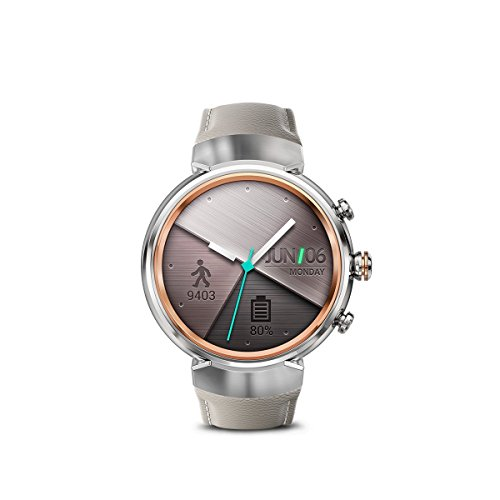 ASUS WI503Q-SL-BG ZenWatch 3 1.39-Inch Amoled Smart Watch with Beige Leather Strap (Certified Refurbished)