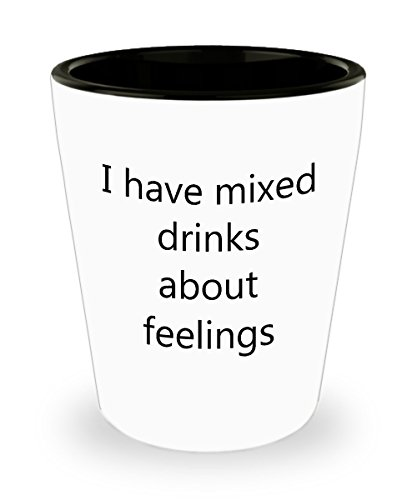 Drinking Quotes Shot Glasses - I Have Mixed Drinks Shot Glass (Jager Bottle Costume)