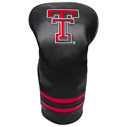 Team Golf NCAA Texas Tech Red Raiders Vintage Driver Golf Club Headcover, Form Fitting Design, Retro Design & Superb Embroidery ()