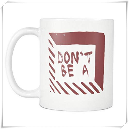 Mr.Fixed - Don't Be A Square - Pulp Fiction Inspired Funny Witty Saying Coffee Mug, 11oz Ceramic Coffee Mug, Unique Gift