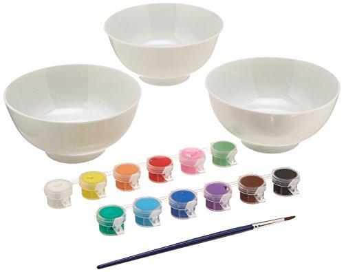 (Family Games Bowls Porcelain Paint Kit)