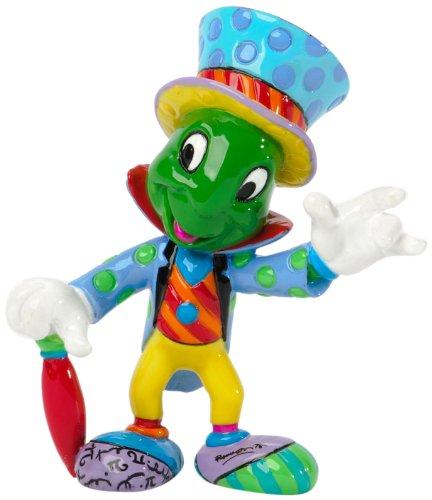 "Enesco Disney by Britto Jiminy Cricket from ""Pinocchio"" Mini Stone Resin Figurine"