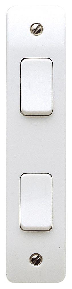 MK K4842WHI Interrupteur de chambranle 2 modules 2 positions P/ôle unique 10/A