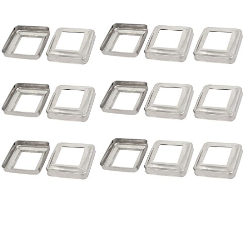 Base Decorative Cover (uxcell 15pcs Ladder Handrail Hand Rail 40mm x 40mm Post Plate Cover 304 Stainless Steel)