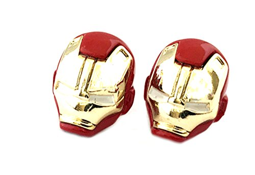 Ironman Earrings Post Studs Marvel Comics Avengers Movies Cartoon Superhero Logo Theme Premium Quality Detailed Cosplay Jewelry Gift (Spiderman Earrings)