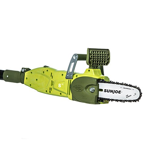 Sun Joe SWJ806E 8-Inch 8.0 Amp 2-in-1 Convertible Pole Chain Saw, Green